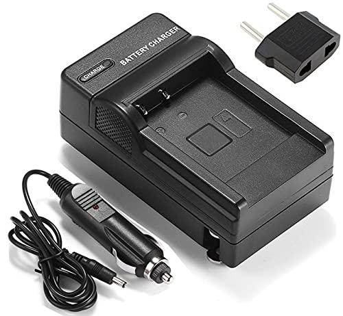 HANXIAOLONGA Cargador de batería para videocámara Panasonic HM-TA2, HM-TA20, HX-DC1, HX-DC2, HX-DC3, HX-DC10, HX-DC15, HX-WA10, HX-WA10EB-A (Color : Wall and Car Charger)