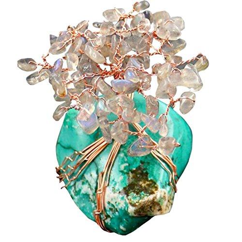 Feng Shui - Amuleto Arbol del dinero con cristales trasparentes