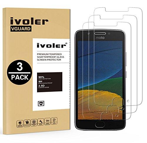 iVoler [3 Pack] Pellicola Vetro Temperato per Lenovo/Motorola Moto G5, Pellicola Protettiva, Protezione per Schermo
