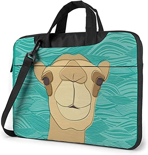 Laptop Shoulder Bag,Cool Camel Teal Green Shockproof Laptop Sleeve Cover Business Messenger Bag Briefcase Handbag Case 13/14/15.6 inch