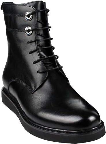 Chaussures Martin pour Hommes Bottes De Cuir Hautes Et Décontractées Bottes D'équitation De Plein Air pour Hommes Chaussures De Travail pour Hommes