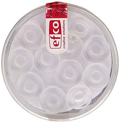 EFCO glaskraal ring groot gat 3 x 10 mm / 4 mm 12 st. Kristal, Zilver, 3 x 3 x 2 cm