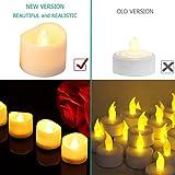 【2020 Neue】ORIA 12 LED Kerzen, Flammenlose Kerzen LED Teelicht Elektrische Kerzen Lichter, Batteriebetriebene Flackern Teelichter Kerzen Tealights für Weihnachten, Hochzeit, Party, etc - 8