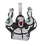 High qualityHip Hop Hipster Pendant, Character Gorilla Take Money Bag Color Collar Joyas, Cumpleaños, Navidad, Regalos de Citas