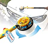 Car Wash Tool,Portable Automatic Rotating Car Wash Cleaner With 10pcs Multifunctional Effervescent Clean