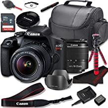 Canon EOS Rebel T7 DSLR Camera Bundle with Canon EF-S 18-55mm f/3.5-5.6 Zoom Lens + SanDisk 64GB Memory Cards + Accessory Kit