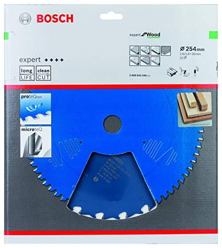 Bosch Professional 2608644340 Kreissägeblatt Expert for Wood (für Holz, 254 x 30 x 2,6 mm, Zähne 22, Zubehör Kreissäge)