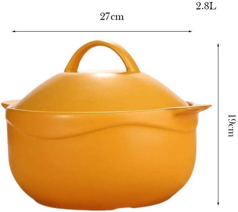 XHCP Pot à Soupe - Bol à Soupe en Porcelaine en céramique avec poignée Bol à Soupe à l'oignon français Les casseroles conviennent pour Le ragoût Red