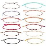 Auidy_6TXD 20 Stück Freundschaft Armbänder für Frauen Mädchen Handgefertigt Geflochten Wickelarmband Multicolor Gewebte Dünn Saiten