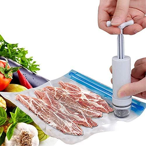 BIGROUP Envasadora al Vacío Foodsaver, Envasadora Máquina Selladora de Vacío para Alimentos Secos y Húmedos Preservación para cocina, 15Pack Bolsas Envasado al Vacio Alimentos