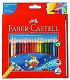 Faber Castell Colour Grip Water Colour Pencils - 24 Shades