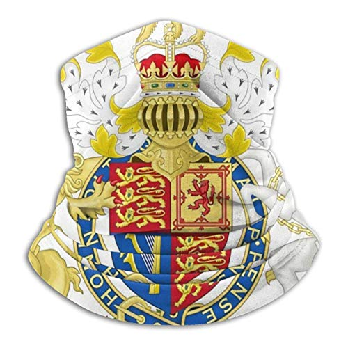 ngxiandaz Royal Wappen für Großbritannien Halsmanschette Wärmer Winddichte Abdeckung Staubfreie UV-Leoparden-Gesichtsabdeckung