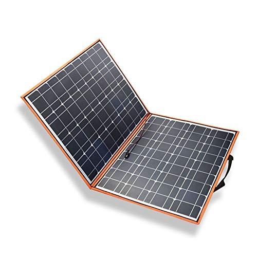YYANG, Pannello Solare Pieghevole, Caricabatterie per Esterni, Batteria con Uscita USB, 120 W, Singolo Cristallo