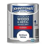 Johnstone's 423316 Quick Dry Gloss, Brilliant White, 1.25 Liter