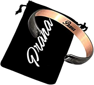 Copper Magnetic Cuff Bracelet Band Anadized Gun Metal Color Therapy Golf Bracelet for Men Women Arthritis Joint Pain Relief Aid