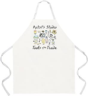 Attitude Aprons Fully Adjustable Artist's Studio Apron, Natural