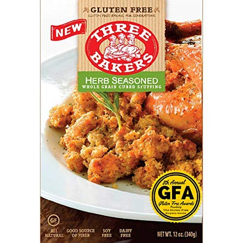 Three Bakers Herb Seasoned Whole Grain Cubed Stuffing Gluten Free, 12 Ounce