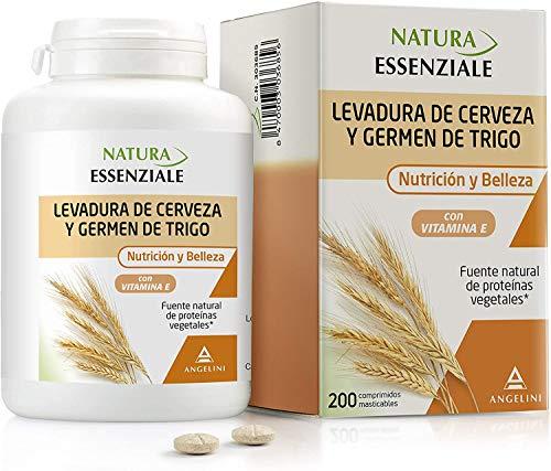 NATURA ESSENZIALE Levadura de cerveza y Germen de Trigo - Fuente natural de proteínas - Complemento alimenticio con levadura de cerveza, germen de trigo y vitamina E. Ingredientes de origen natural.
