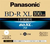パナソニック ブルーレイディスク 録画用4倍速 100GB(片面3層 追記型) 単品 LM-BR100LW