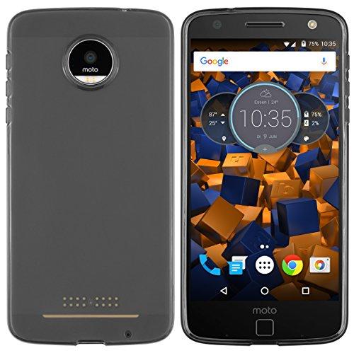 mumbi Hülle kompatibel mit Lenovo Moto Z Handy Hülle Handyhülle, transparent schwarz