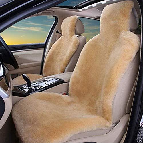 Coprisedile per Auto in Vera Pelle di Pecora Coprisedile per Auto in Vera Pelliccia per Auto SUV MPV Sedili Anteriori (Un Pezzo)
