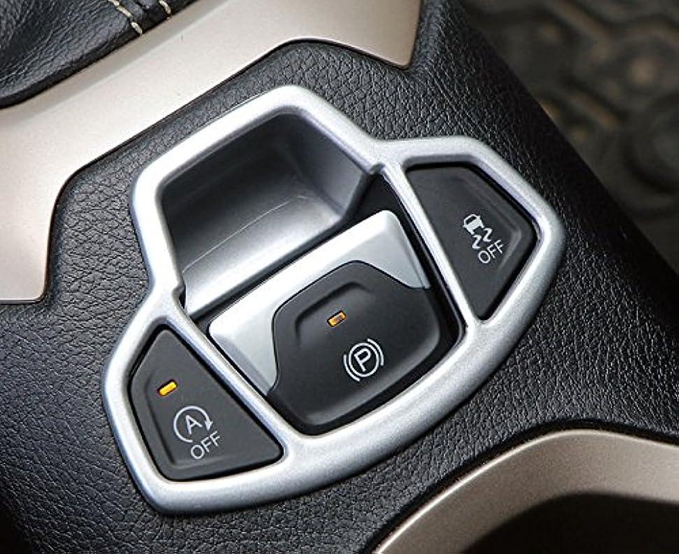 投票引き受ける乳Jicorzo - 1pc ABS Car Electronic Handbrake Decorative Cover Trim for Jeep Renegade 2015-2018 Car Interior Accessories Styling