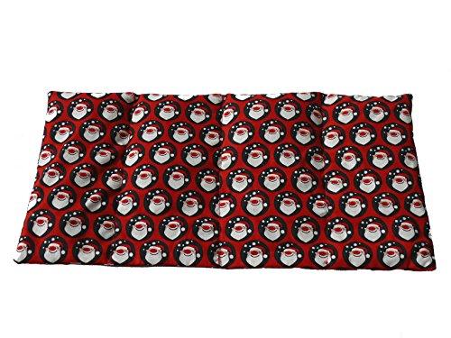 Fitzibiz Körnerkissen Nikolaus, Baumwolldruck, 100% Baumwolle, 39x20cm (Dinkel-, Raps-, Weizen oder Kirschkernfüllung)