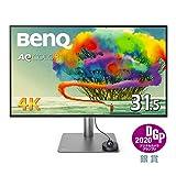 BenQ 31.5型デザイナー向けモニターPD3220U(4K/IPS/ノングレア/P3 95%/Rec.709 100%/Thunderbolt 3/ブルーライト軽減/DP/スピーカー付/回転)