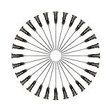 100Pack 1.5'Industrial Punta roma Aguja dispensadora. Aplicador de precisión. Jeringa Agujas dispensadoras 21G
