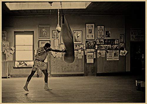 h-p Muhammad Ali Inspirador Retro Lienzo Arte Pintura Al Óleo Cartel Decoración...