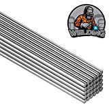 50 Pieces Aluminum Welding Rods 0.08 x 8 Inch Universal Low Temperature Welding Cored Wire Brazing Rod Tube for Electric Power, Drill Tap Polish and Paint