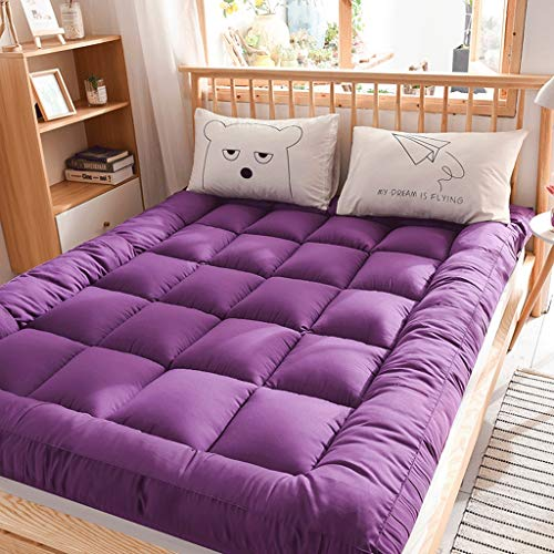 De estilo japonés de suelo Colchón Colchón de cama, engrosamiento 10CM tatami dormir cojín plegable Colchón enrollable Niño Niña compartida de la almohadilla del colchón Niños piso reclinable