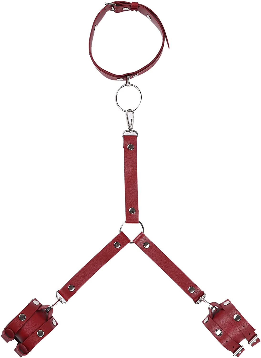 zdhoor Mens Womens Faux Leather Harness Accessories Halter Neck
