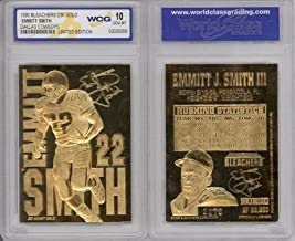 EMMITT SMITH LIMITED EDITION WCG GEM MT 10 SIGNATURE 23KT GOLD CARD!
