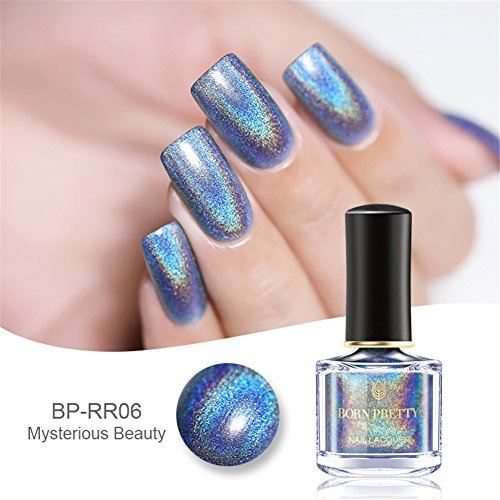 Born Pretty 6ml Holographic Shining Glitter Super Shine Nail Art Polish (Fliegen in den Himmel)