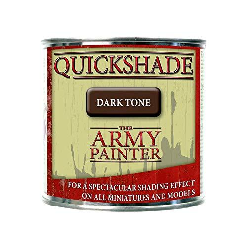 The Army Painter - Dark Tone Quickshade | 250ml | aus feinen schwarzen Pigmenten | für perfekte Schattierungen | Wargame Modellmalerei