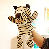 Animal Títere De Mano Cute Cartoon Plush Toy Doll Parent-Child Game Kindergarten Story Props Finger Doll Baby Toy 30Cm Rayas Tigre