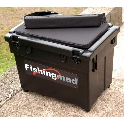 Fishingmad Fishing Seat Box with strap and cushion