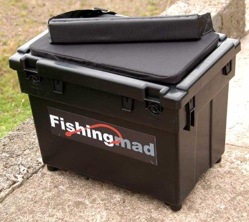 Fishingmad Sitzkiepe + Tragegurt + Auflage - Aufkleber nach Wahl