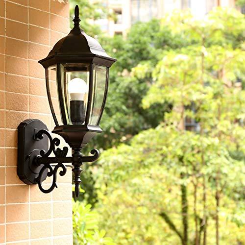 Yjdr Exterior curvada lámpara de pared de estilo europeo de la sala dormitorio balcón Entrada de Villa al aire libre Terraza Jardín Patio Pastoral pared impermeable lámpara de pared de 53 * 25 cm / 20