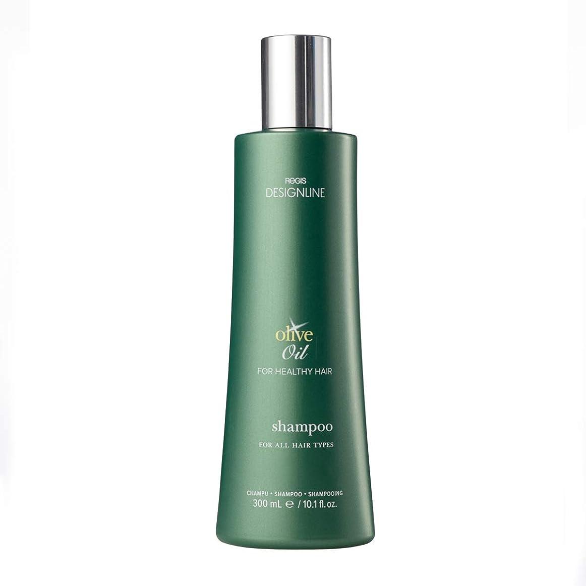 信頼性振り子失敗DESIGNLINE オリーブ オイル シャンプー - Regis -オリーブオイルと豊富なビタミンEとKで強化された環境からの髪の保護に役立つ 10.1 オンス