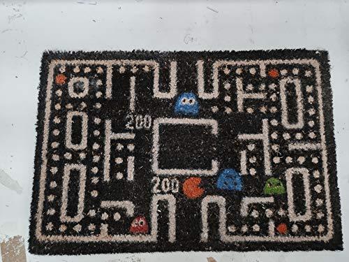 Home Gadgets Felpudo Antideslizante Fibra de Coco Pacman 60x45 cm