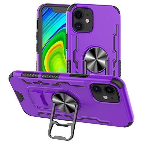 Funda para iPhone 12 Mini, carcasa de silicona TPU con anillo magnético de 360°, carcasa protectora antiarañazos, antideslizante, amortigua los golpes, irrompible, para iPhone 12 Mini (6)