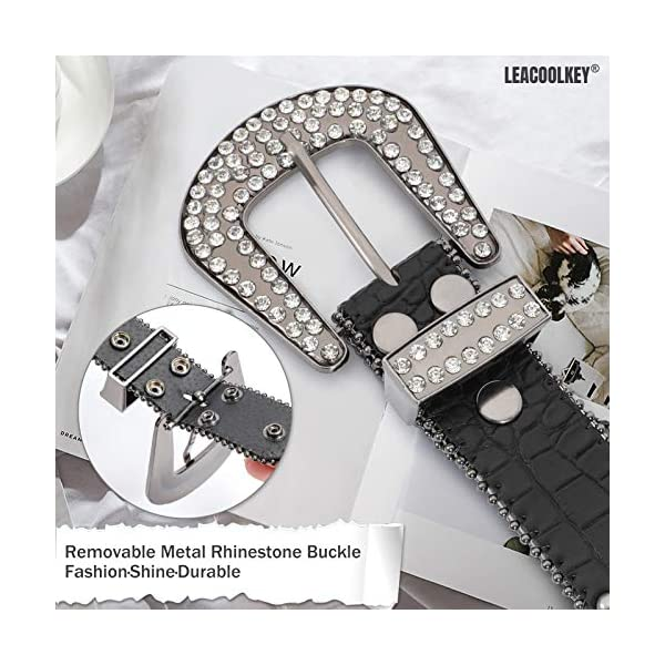 Western Cowgirl Studded Leather Belt 4