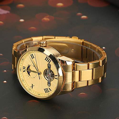 Herenhorloge met ronde wijzerplaat, automatisch, mechanisch vrijetijdshorloge voor heren en dames