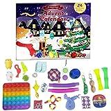 Bagima Calendario de Adviento de Navidad 2021, juego de juguetes sensoriales, calendario de cuenta regresiva de Navidad, juguetes para aliviar el estrés, juguetes suaves para apretar sensoriales