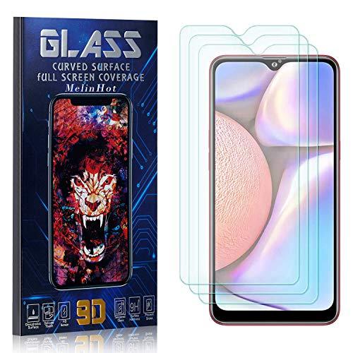 MelinHot Displayschutzfolie für Galaxy A10S, Anti Fingerabdruck, Ultra Dünn Blasenfrei Schutzfolie aus Gehärtetem Glas für Samsung Galaxy A10S, 3 Stück