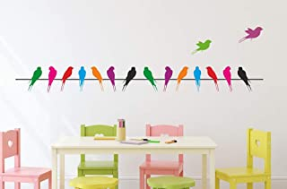 Amazon Brand - Solimo Wall Sticker for Living Room (Take The Wings & Fly Away, Ideal Size on Wall - 140 cm x 37 cm)