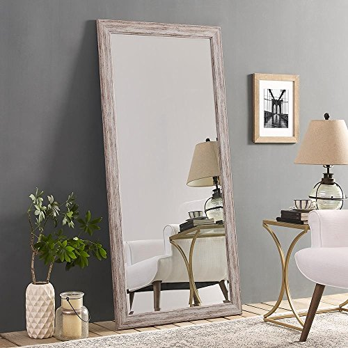 "Naomi Home Rustic Mirror White/66"" x 32"""