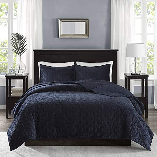 Madison Park Harper Velvet Quilt Bedding Set review